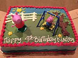 Amazon.com: Bakery Crafts - Peppa Pig Cake Kit,1cake topper with 2
