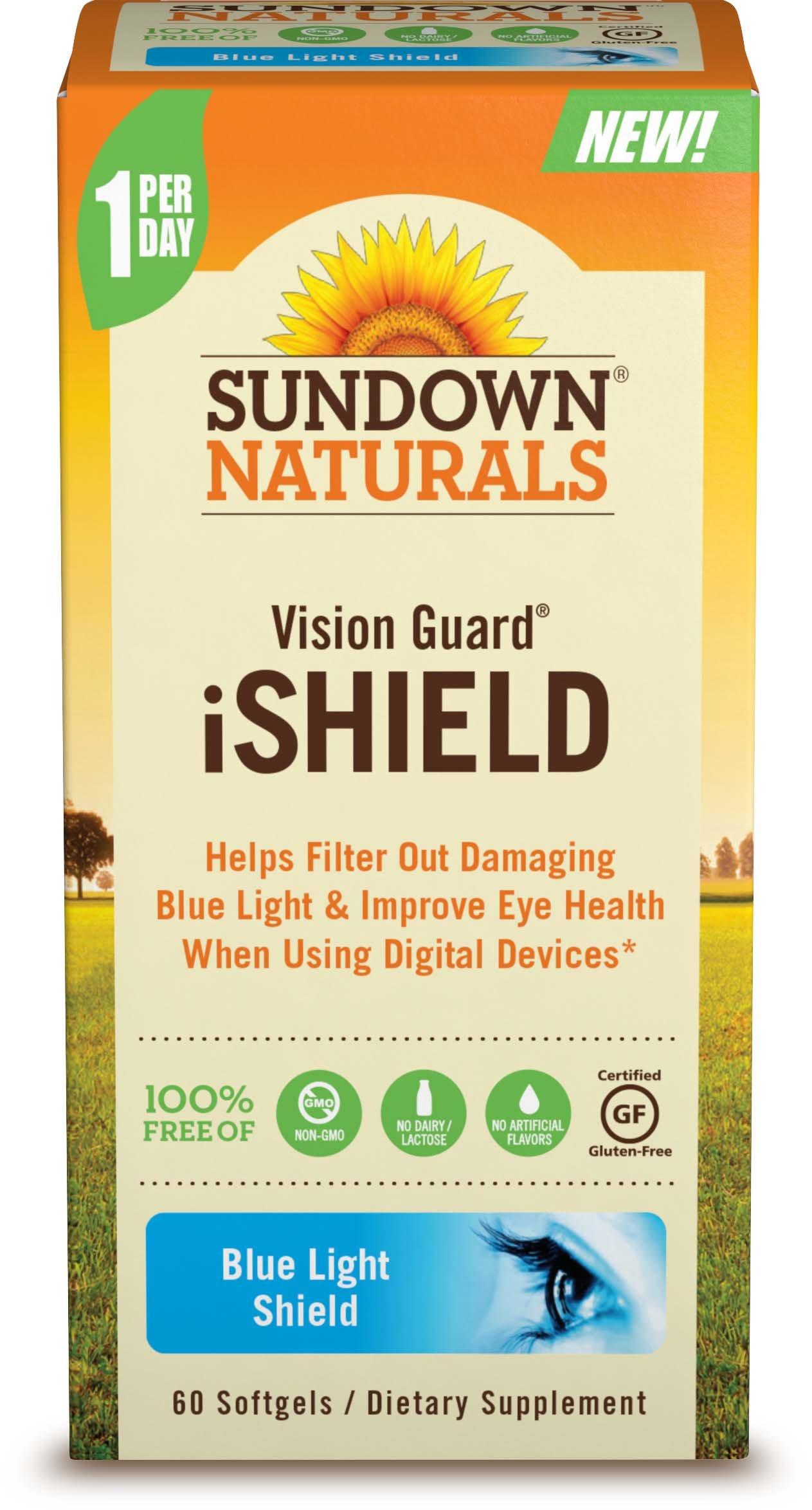 Sundown Naturals Vision Guard Ishield Softgels, 60 Count