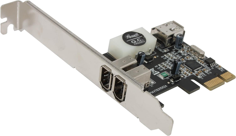 Exsys LowProfile FireWire 1394A PCI-Express Karte mit 2