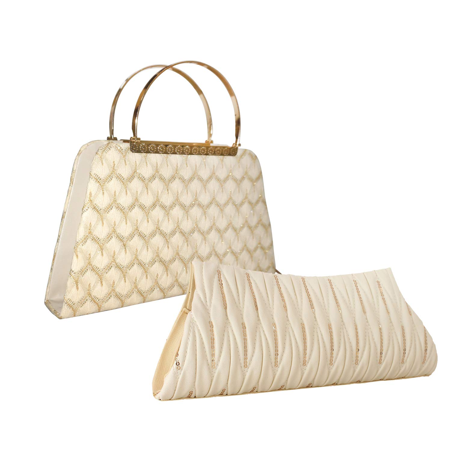 Element Cart Pu Material White Color Clutches for Women/Girls(CLUTCH-148_CLUTCH-ETC-039)