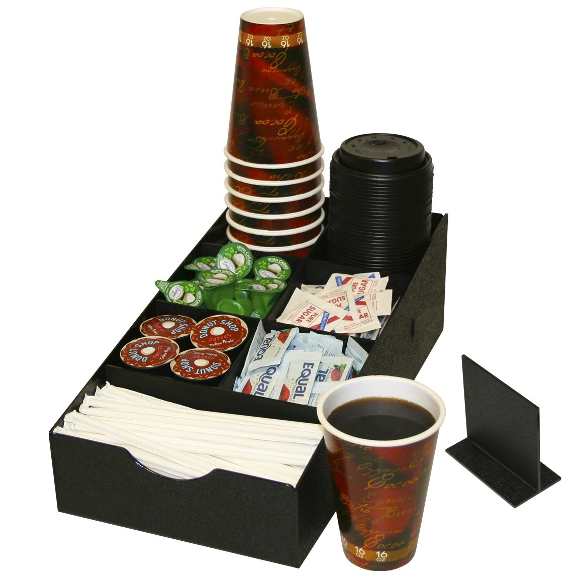 8 Compartment Condiment Organizer. Comes With 1 Extra Movable Divider. 81/2'' Wide x 16''D. Made in the USA by PPM.