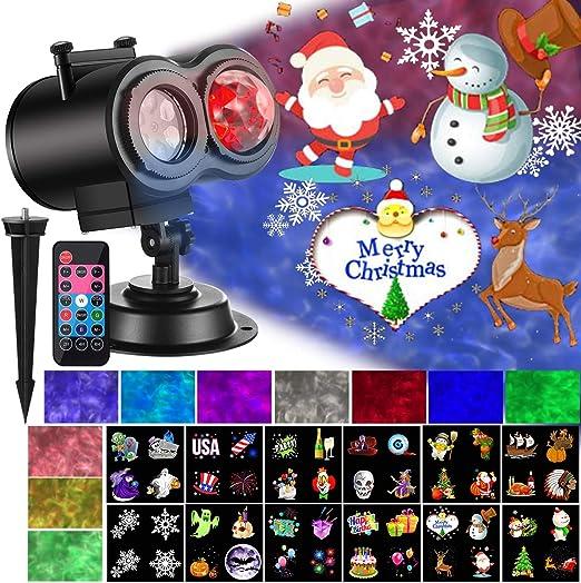 Amazon.com: Luces de proyector de Navidad con olas oceánicas ...