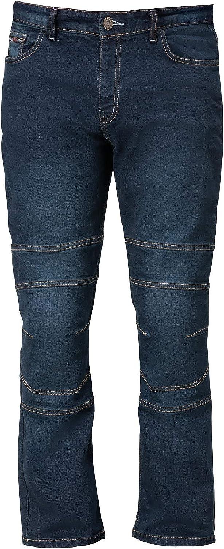 Yamoto Bela Cast Denim Blue Motorcycle Mens Jeans