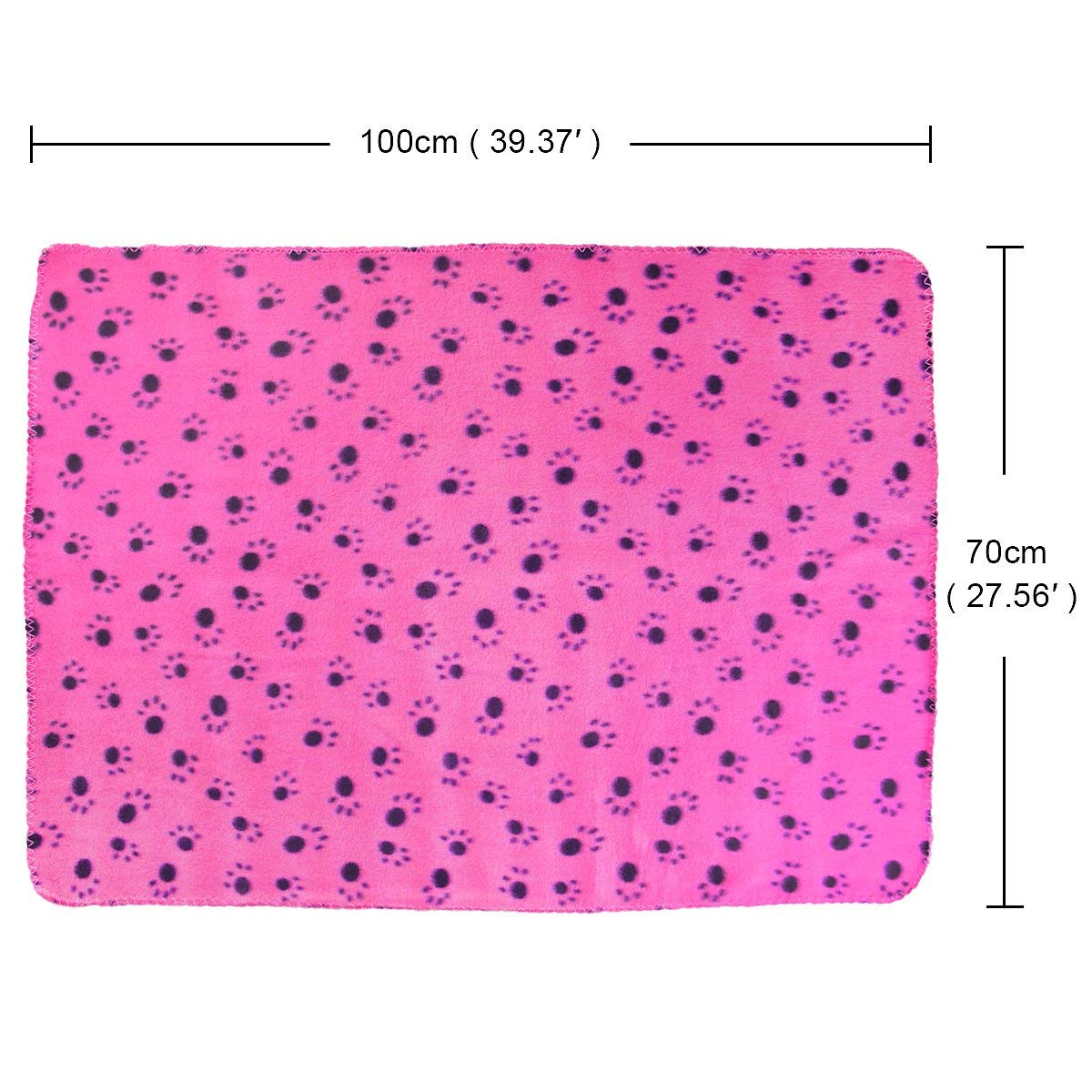 KYC 3 pack 40 x 28 '' Puppy Blanket Cushion Dog Cat Fleece Blankets Pet Sleep Mat Pad Bed Cover with Paw Print Kitten Soft Warm Blanket for Animals (Mixed A) by KYC (Image #8)