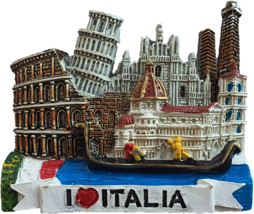 Fridge Magnet Italy 3D Resin Handmade Craft Tourist Travel City Souvenir Collection Letter Refrigerator Sticker