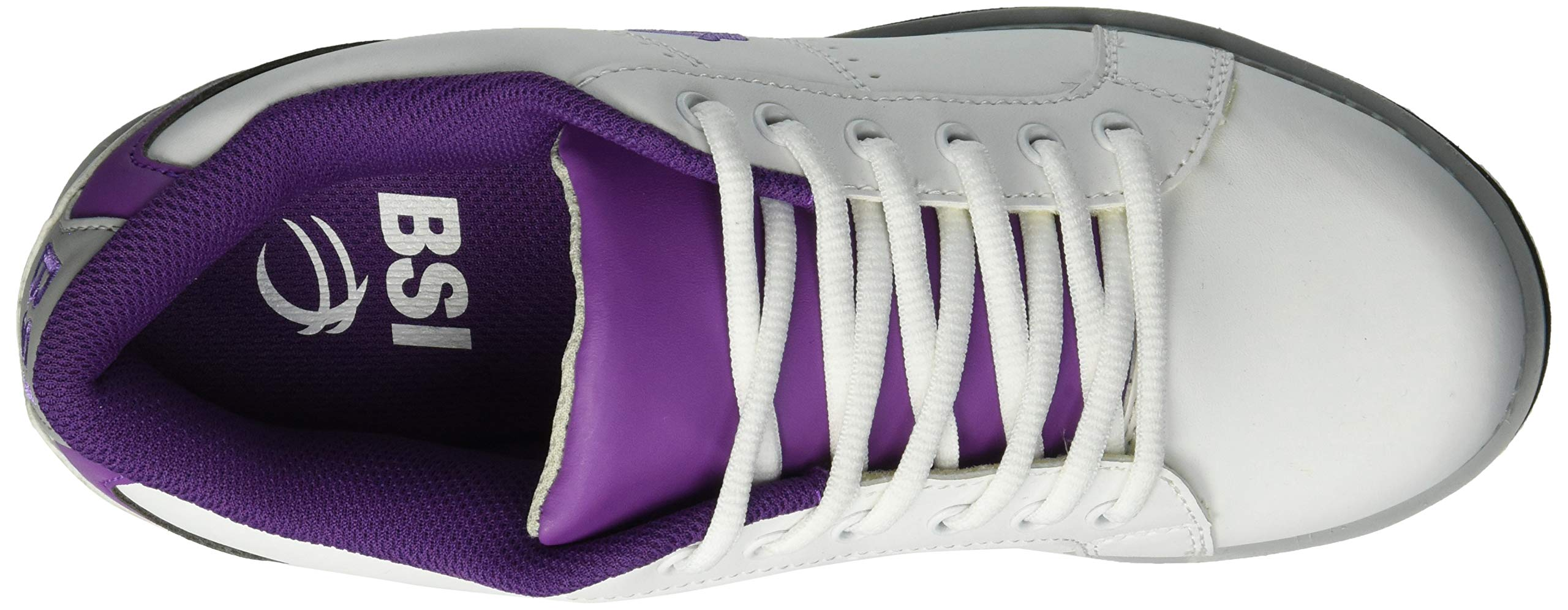 BSI Women's 460 Bowling Shoe, White/Purple, Size 10 by BSI (Image #8)