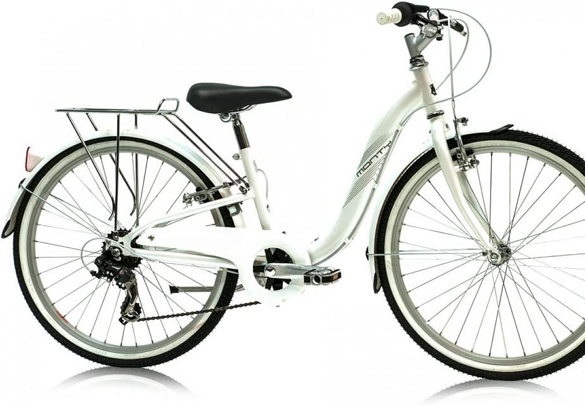 Monty City 3 - Bicicleta de Paseo para niño, Color Blanco, 12