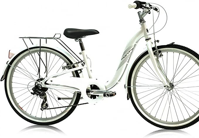 Monty City 3 - Bicicleta de Paseo para niño, Color Blanco, 12 ...