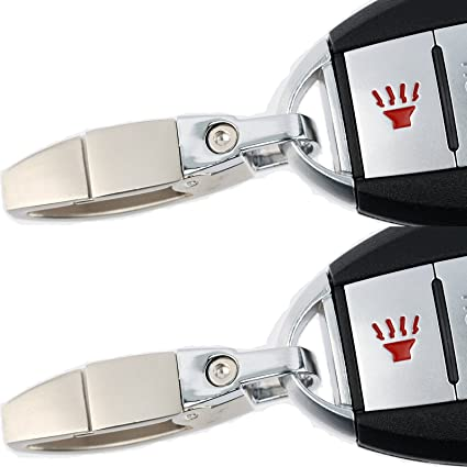 1d0d40bc0fba Amazon.com  KeylessOption Replacement Remote Smart Car Keyless Fob Chrome  KeyChain Ring Loop Key Clip Dongle for Infiniti
