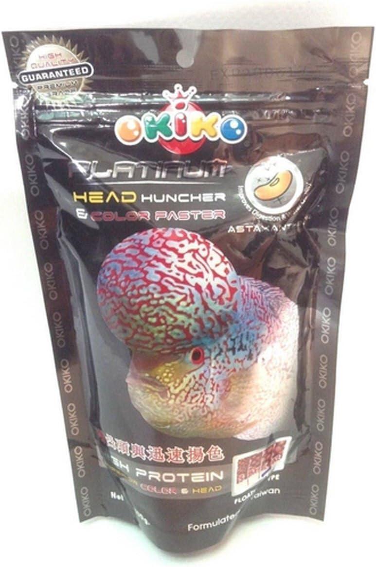 OKIKO Fish Food Pellets Platinum Big Head Faster Flower Horn and Color 100 g M