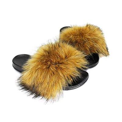 Amazon.com | Adorllya Womens Slippers, Cute Fuzzy FILP Flops Slides Comfortable Fur Slippers for Women | Slippers