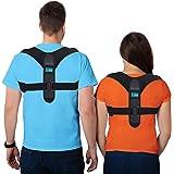 ellostar Corrector de postura, mejora la postura de la espalda para hombres y mujeres, todos los tamaños, alisador de apoyo d