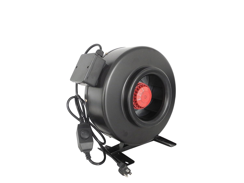 "Hydro Crunch 4"" Inline Fan for Ventilation"