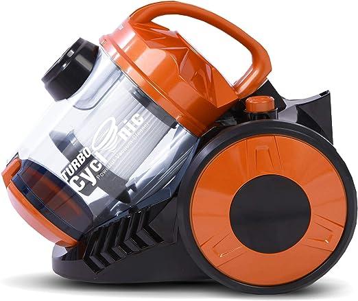 900W Aspirapolvere Zyklon, produce > 19kPa di potenza di aspirazione, 2,5 litri, filtro Hepa, senza sacco (Arancione)