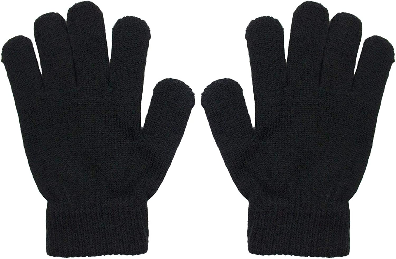 Minecraft Boys Creeper Checkered 2 Piece Kids Hat and Gloves Set Black