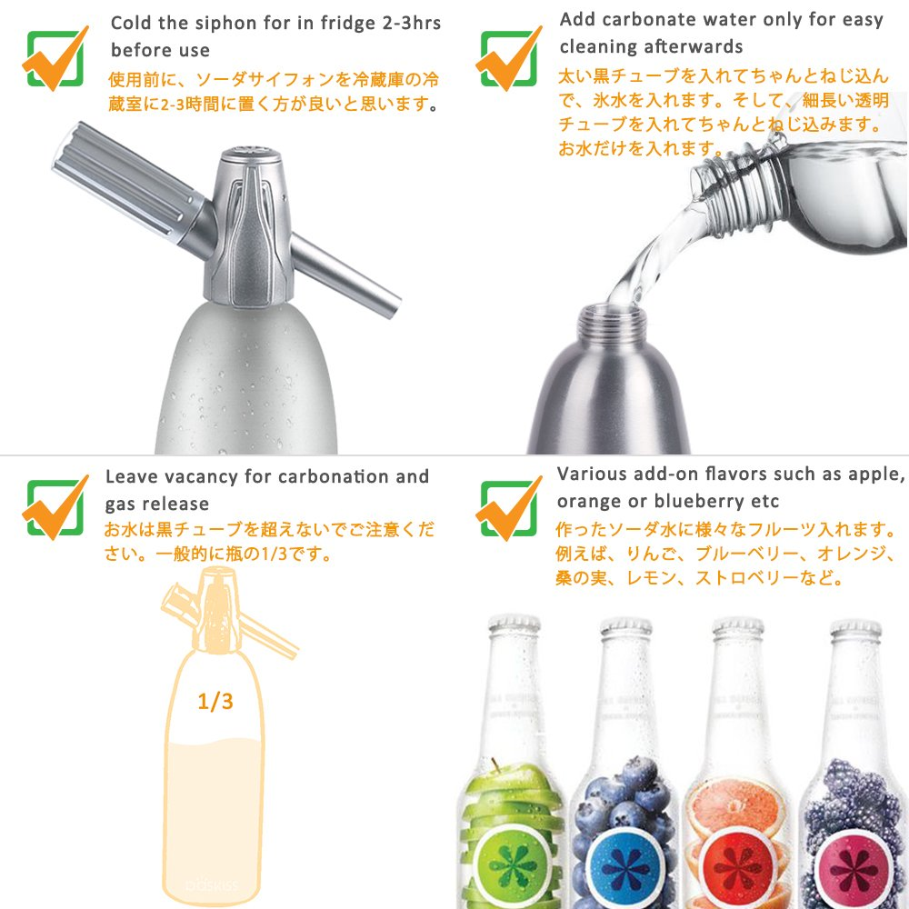 amazon com baskiss soda siphon maker making sparking water for