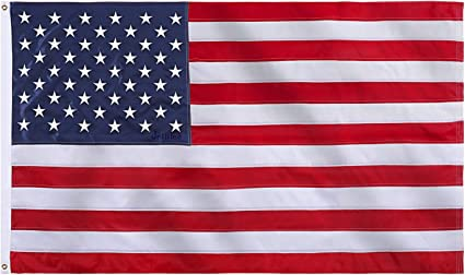 2x3ft US American Flag Heavy Duty Embroidered Stars Sewn Stripes Grommets Oxford