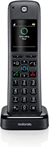 Motorola AX DECT 6.0 Accessory Cordless Handset for Motorola AX Series of Smart Cordless Phone and Answering Machines with Alexa Built-in