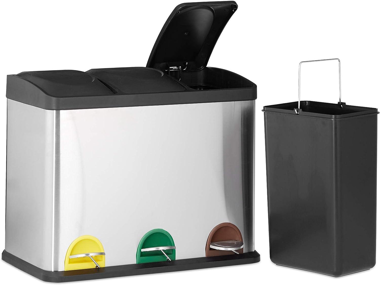 3 x 40 parfumée Poubelle à Pédale Doublure Sac de 20 L parfum refuser des déchets Sac Multi couleur