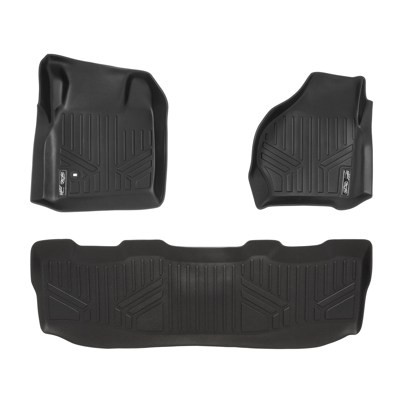 F-450 F-350 MAXLINER Floor Mats 1st Row Liner Set Black for 1999-2007 Ford F-250 // 2000-2005 Excursion F-550 Super Duty All Models