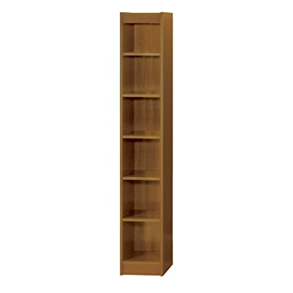 Safco Products 1511MOC Baby Bookcase 6 Shelf 12quot Wide Medium Oak