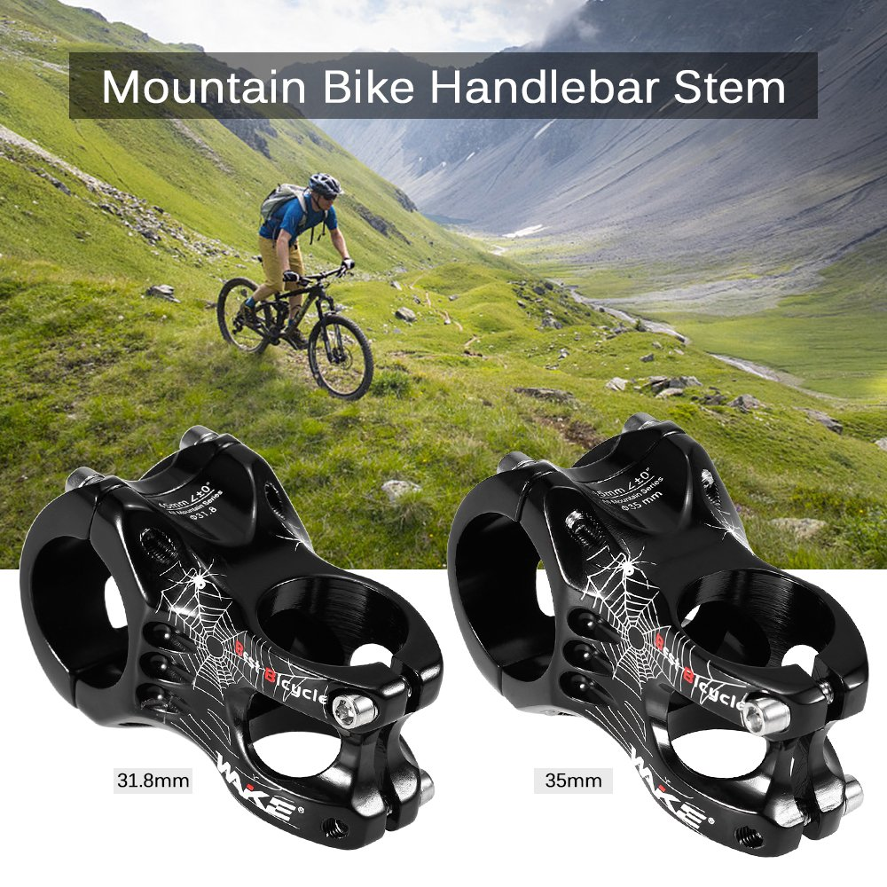 Lixada Aluminum Alloy Mtb Handlebar Stem Mountain Bike Bicycle Uno 35mm Cycling Clamp 318mm Sports Outdoors