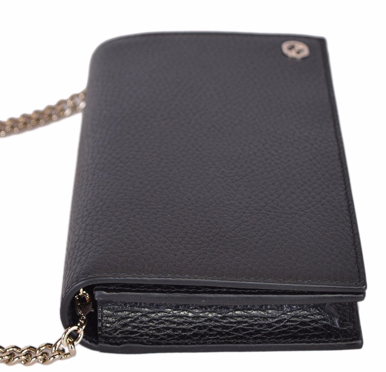 de0a5343f10 Gucci Women s Leather Interlocking GG Crossbody Wallet Purse (466506 Black)   Amazon.ca  Shoes   Handbags