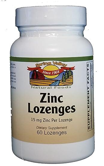 Amazon Com Spring Valley Natural Foods Zinc Lemon Lozenges 15 Mg 60