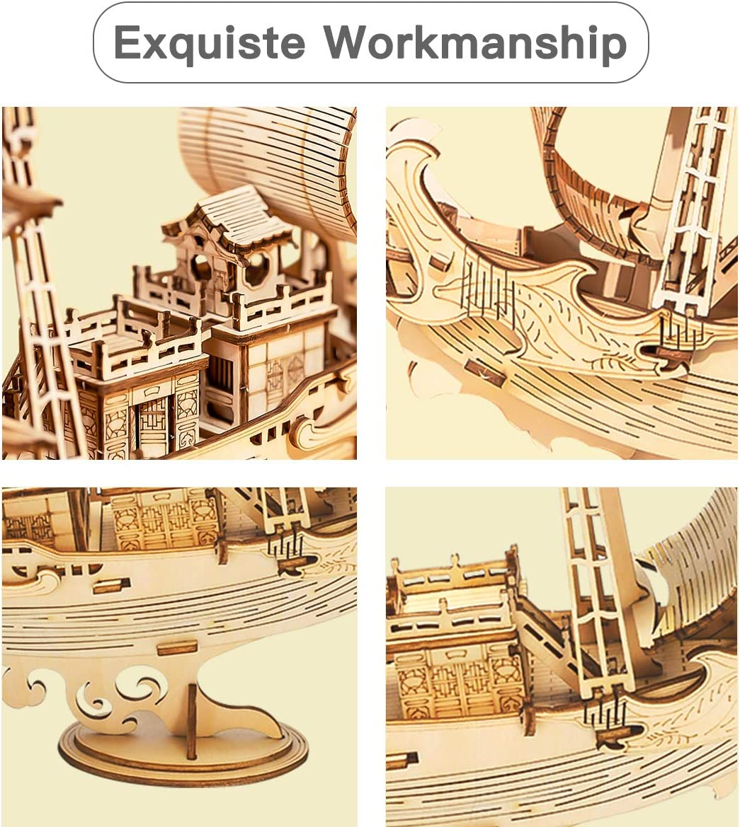 Rolife Puzzle 3D Maqueta Japanese Diplomatic Ship para Adultos y Ni/ños
