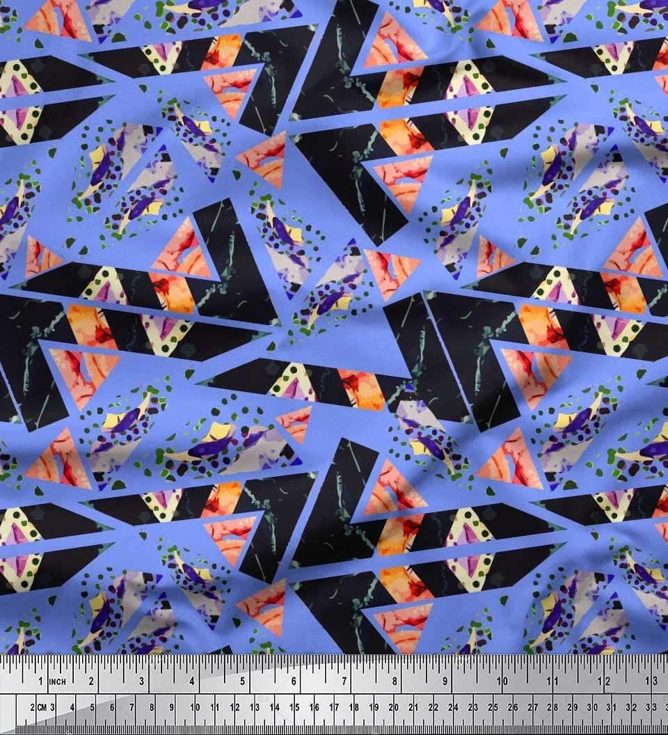 """Abstract Printed Cotton Fabric 46 Wide Dressmaking Crafting Supply By The Yard/"""""""