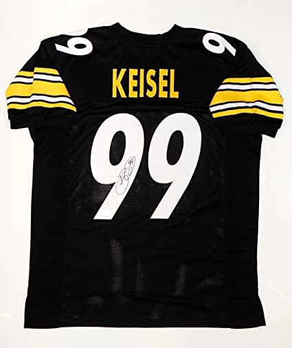 bcd933f9f Image Unavailable. Image not available for. Color  Autographed Brett Keisel  Jersey - Pro Style Black W - JSA Certified - Autographed NFL Jerseys