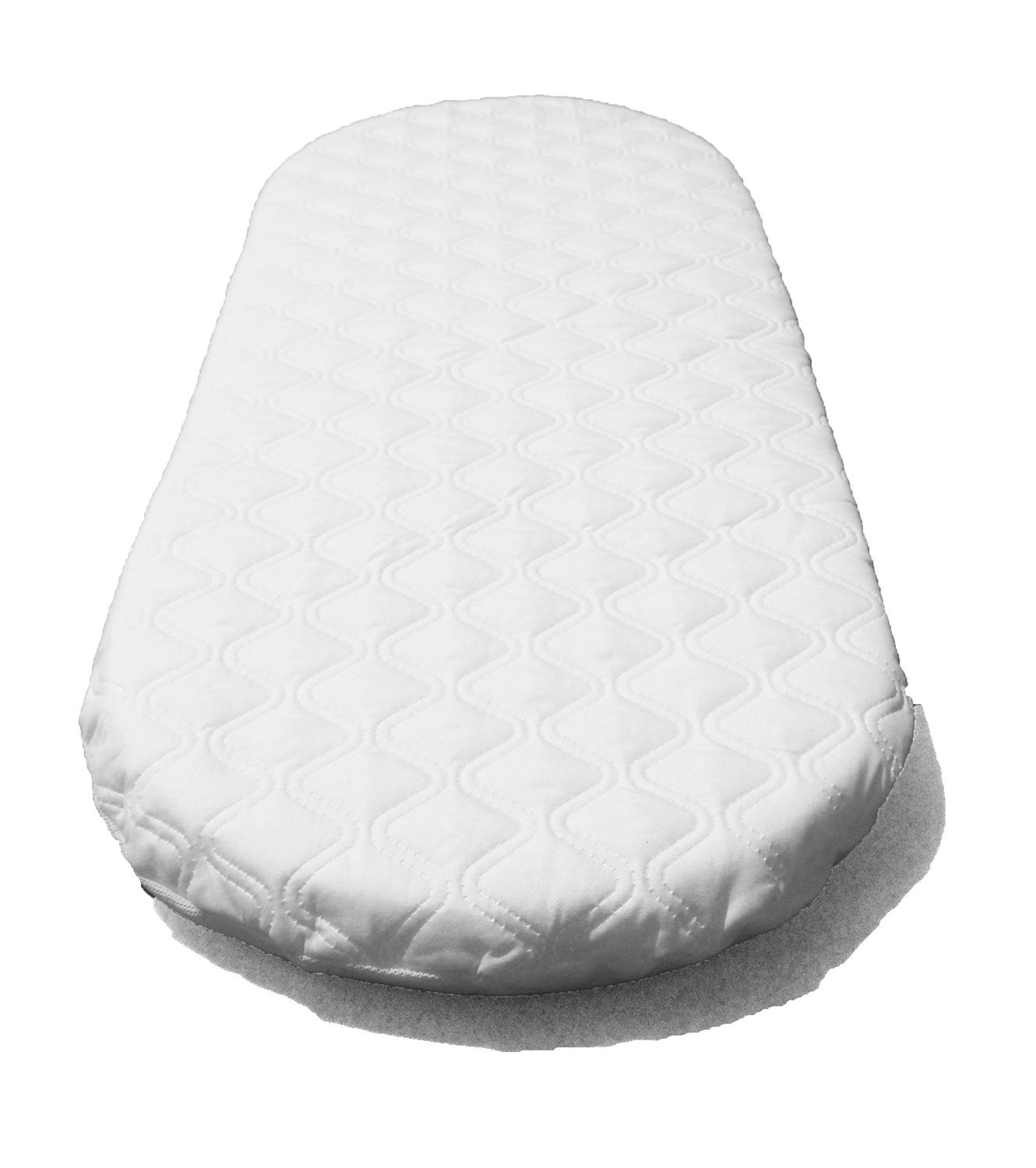 SUZY Microfibre Hypoallergenic Moses Basket Mattress 66x28 x 4cm Thick OVAL SHAPED Will Fit Mothercare Moses Baskets SUZY-mc-6628