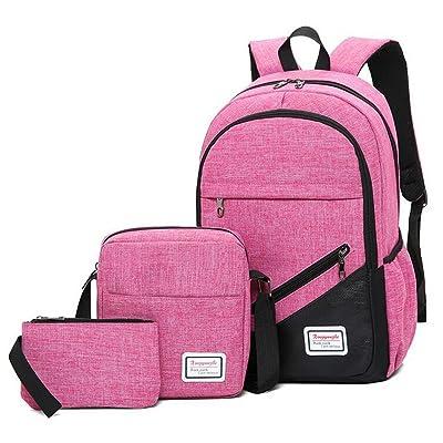 85%OFF Backpack 3pcs/Set Business Laptop Backpack College Travel Backpack USB Charging For Men Women School Rucksack Handbag Single Shoulder Bag