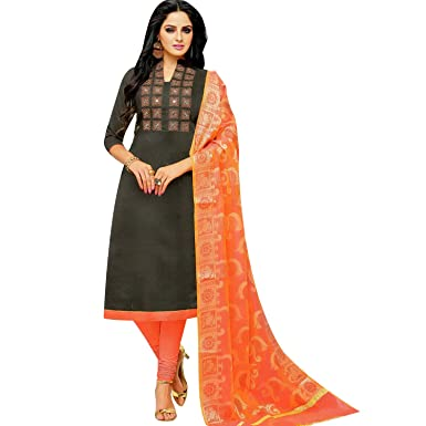 dd271ec3ff Ladyline Designer Partywear Salwar Kameez with Banarasi Silk Dupatta Indian  Dress Pakistani Suit Ready to Wear at Amazon Women's Clothing store: