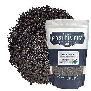 Positively Tea Company, Organic Caramel Black Tea, Loose Leaf, 16 Ounce