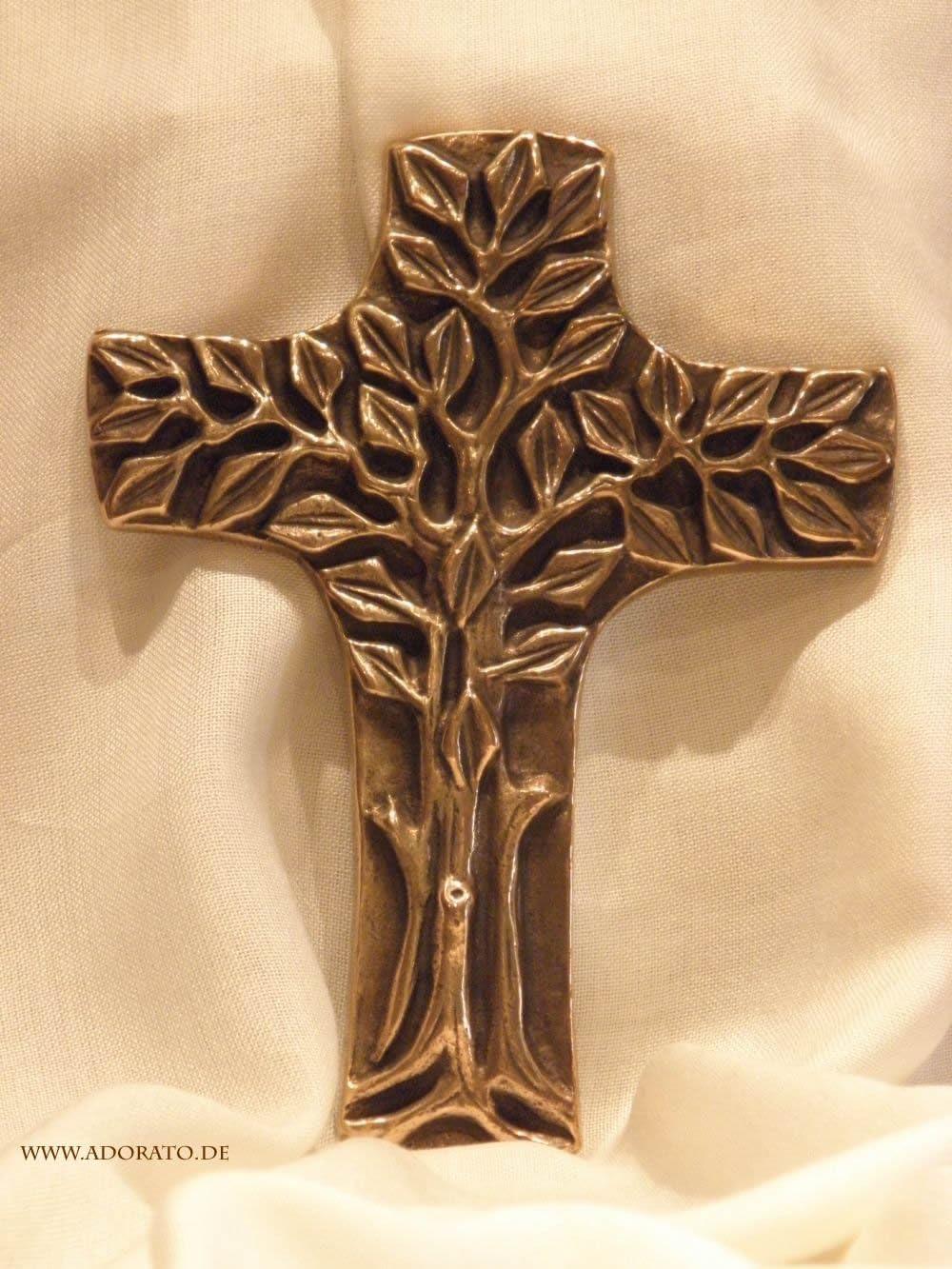 Butzon /& Bercker Bronzekreuz Wandkreuz 16 cm Bronze stilvoll Kruzifix Schmuckkreuz