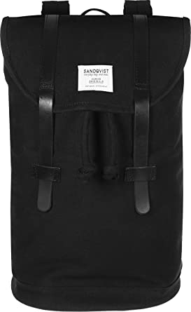 Sandqvist Stig Black Backpack Black: : Bagages