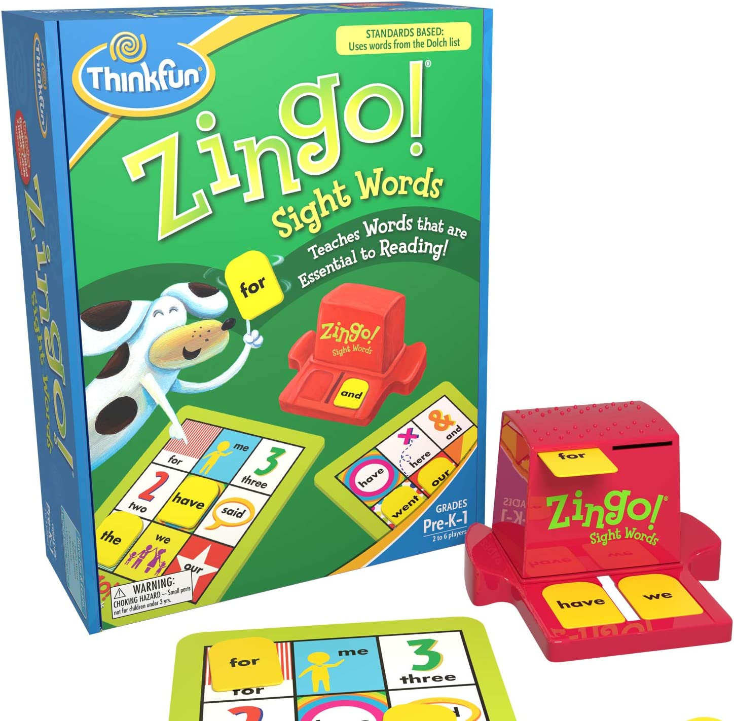 ThinkFun Zingo Sight Words Award Winning Early Reading Game for Pre-K to 2nd Grade - Toy of the Year Finalist, A Fun and Educational Game Developed by Educators for Boys and Girls: Game: Toys & Games