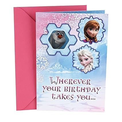 Amazon hallmark birthday greeting card for kids disney frozen hallmark birthday greeting card for kids disney frozen olaf stickers m4hsunfo