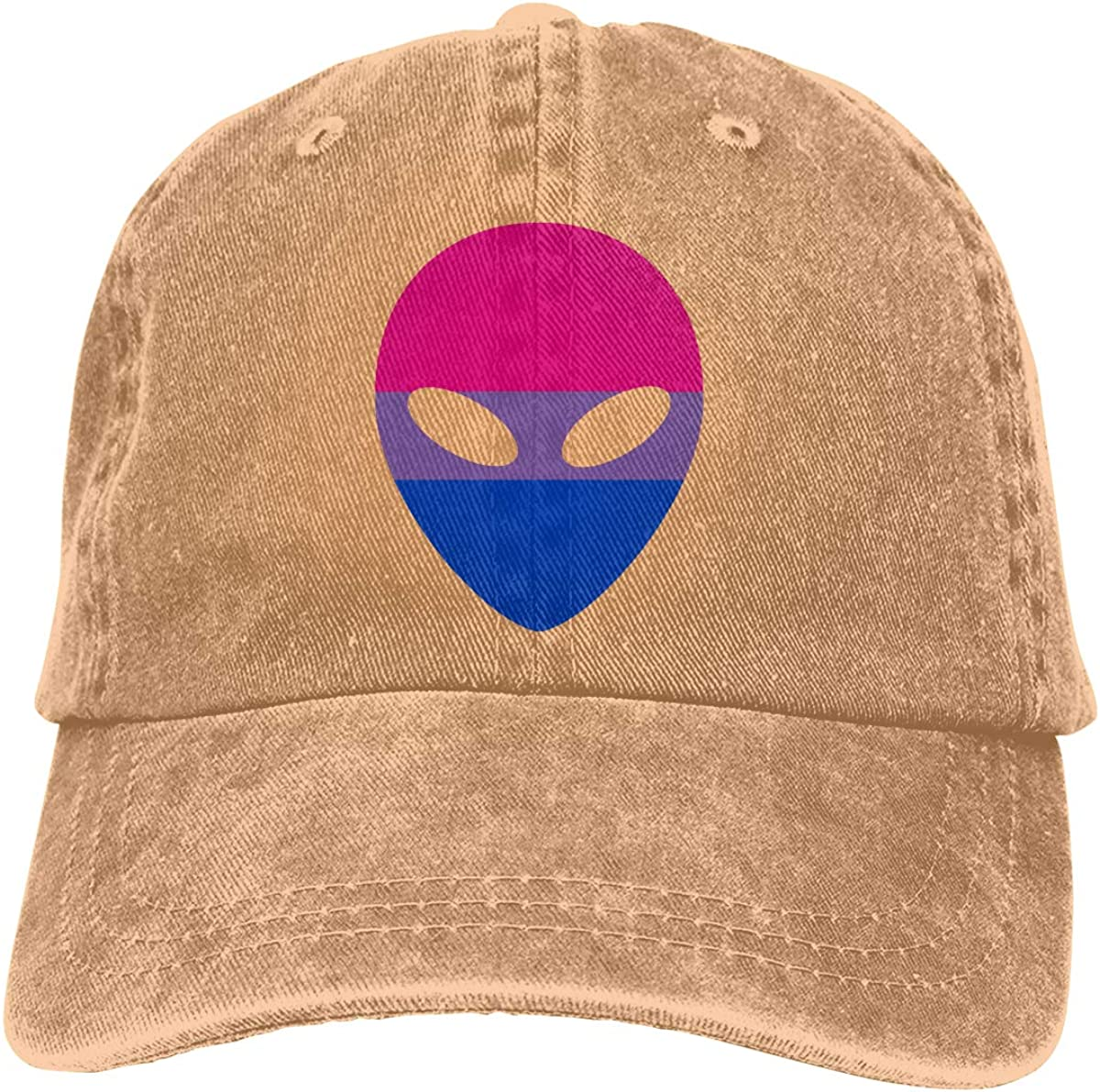 PMGM-C Bisexual Alien Adult Personalize Jeans Hip Hop Cap Adjustable Baseball Cap