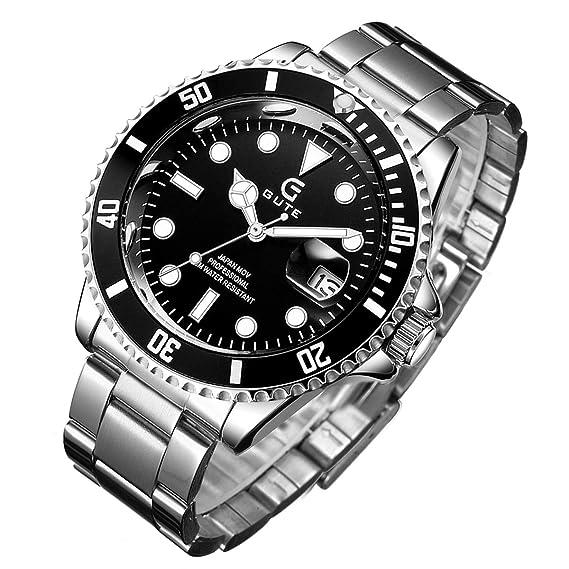 new products 8210e 67b7e STONE メンズ 腕時計 日本製クォーツ スケルトン クォーツ アナログ表示 ウォッチ ステンレス シンプル 男性 時計 クロノグラフ 日付表示