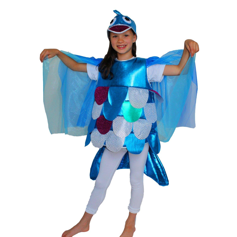 Krause & Sohn - Costume da Arcobaleno per Bambini, Taglia 98-128 - Costume di Carnevale da Pescatore