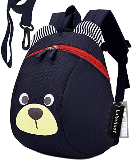 065beb99f49e Children Kids Small Toddler Backpack With Leash Bear for Boy Girl Under 3  Years