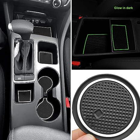 2016 Kia Optima Accessories >> Auovo Anti Dust Mats For Kia Optima K5 2019 2018 2017 2016 Custom Fit Door Pocket Liners Cup Holder Console Mats Interior Accessories 16pcs Set