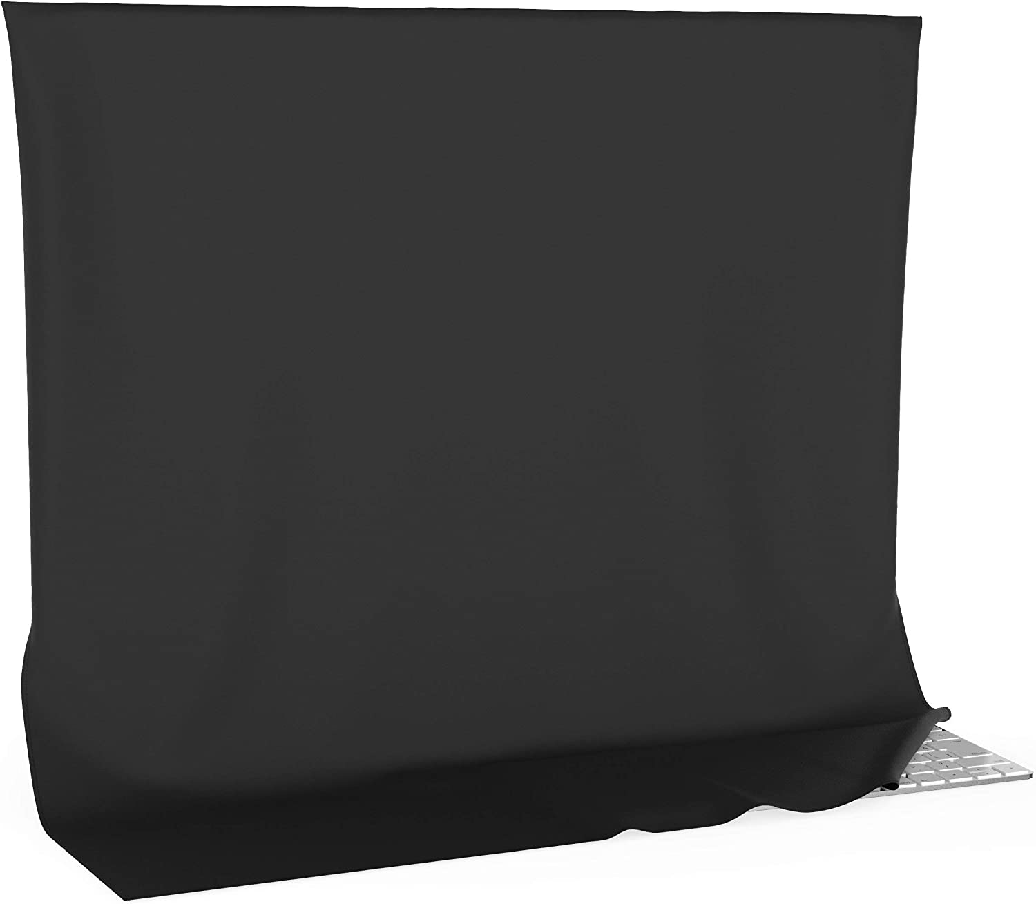 Kuzy iMac 27 inch Cover, Screen and Dust Protector Full Cover for Apple iMac 27 inch Ultrawide Flat Screen Desktop Computer Monitor A1862 A1419 A1312 A1316 A1407 - Black