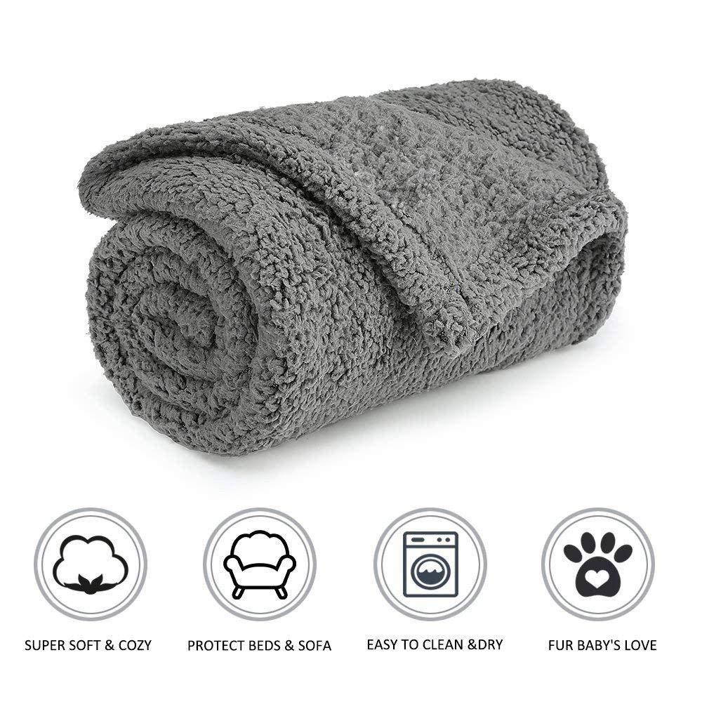 Womdee Manta de Forro Polar para Perro, Suave y cálida, para Perros y Gatos, Color Gris: Amazon.es: Productos para mascotas