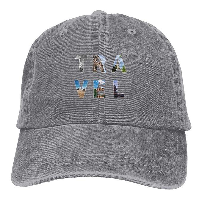 Kkidj Ooii Cowboy Cap Unisex Adjustable Trucker Baseball Hats The Meaning of  Travel ec127c4d27c