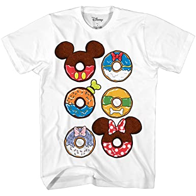 393e8a5e Amazon.com: Disney Donuts Mickey Mouse Minnie Donald Goofy Pluto Disneyland  Funny Humor Men's Graphic T-Shirt: Clothing
