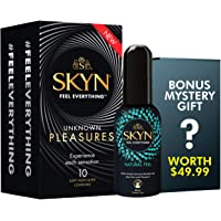 SKYN® Unknown Pleasures Non Latex Condoms 20 pack with 80ML Natural Feel lube and a thrilling FREE Mystery gift!
