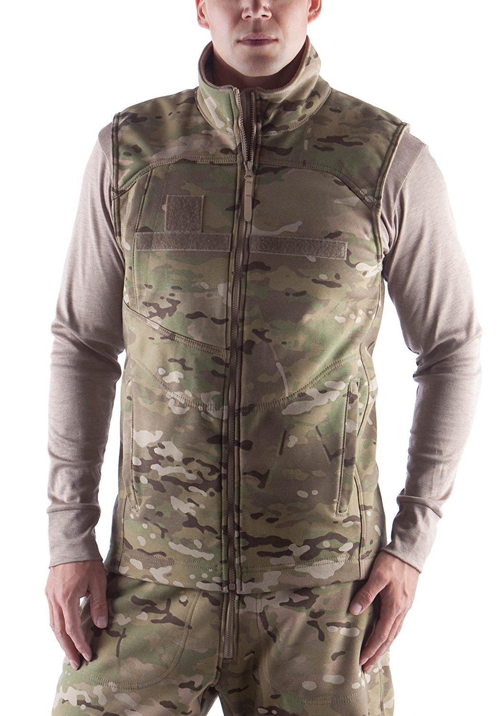 US Military Genuine Issue Massif IWOL Cold Weather Fire-Retardant Vest, Multicam OCP, Size XLR
